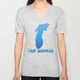 Lake Michigan Great Lakes Outline Unisex V-Neck