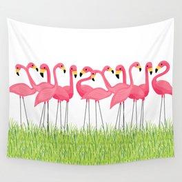 Cuban Pink Flamingos Wall Tapestry