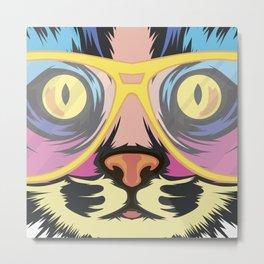 Pop Cat Metal Print