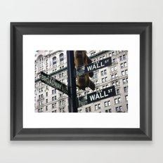 Concrete jungle where dreams are made of... Framed Art Print
