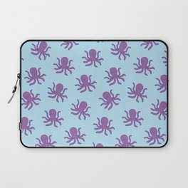Friendly Octopus // Blue Pattern Laptop Sleeve