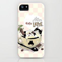 Cafe Latte iPhone Case