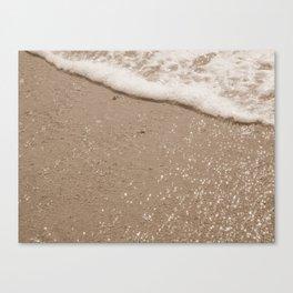 Sparkling Diamond Beach Canvas Print