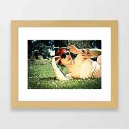 Peace, Love and Diamonds Framed Art Print