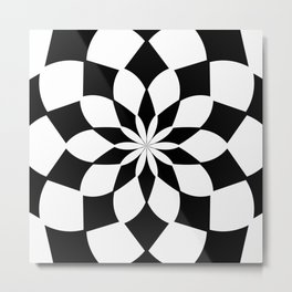 Kaleidoscope 'K2 SQ' Metal Print