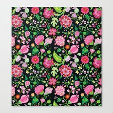 My Crazy Garden Flowers BedSpread Canvas Print