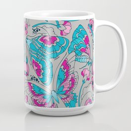 Blue Art Nouveau Butterflies Mug