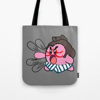 kirby Tote Bags featuring E Kirby by cudatron
