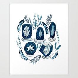 Galaxy Plants Art Print