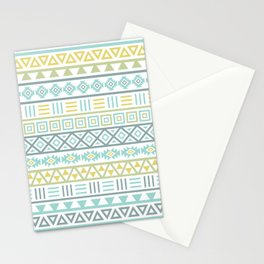 Aztec Influence Ptn Colorful Stationery Cards