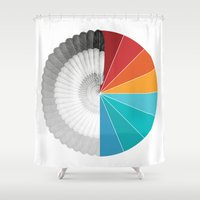 agents of shield Shower Curtains featuring SHIELD by Ben Beaudoin