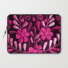 Hot Pink Mexican Flowers Laptop Sleeve