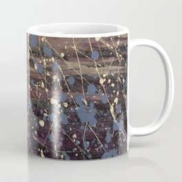 Splatter Painting Abstract, Blue, Purple, Pollack, Jodilynpaintings, Splatter Coffee Mug