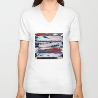 cityscape V-neck T-shirts featuring Cityscape  by MonsterBrown