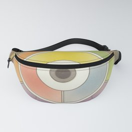 The theory of colouring - Diagram of colour by J. Bacon, 1866, Remake, vintage wash (no text) Fanny Pack
