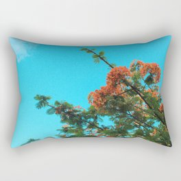 Blooming Orange Rectangular Pillow