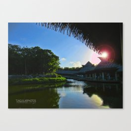 Balcony/Waterfront View Canvas Print