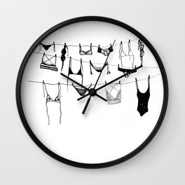 Island Life Series: Laundry Day Wall Clock