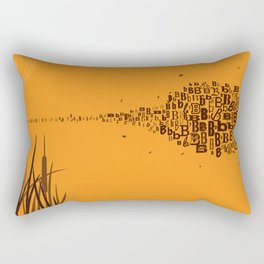 Swarm of B's Rectangular Pillow