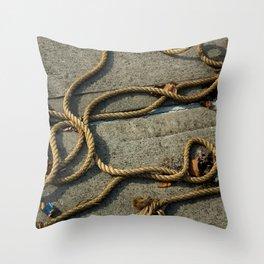 Maritime Ropes Throw Pillow