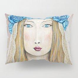 Blue Rose Priestess Pillow Sham