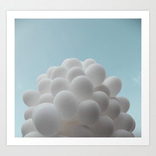 Lighter than air - balloons Art Print