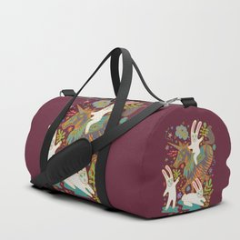 Three Rabbits and a Unicorn Duffle Bag