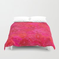 kiss Duvet Covers featuring Kiss by Blue Muse