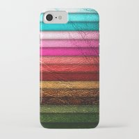 leather iPhone & iPod Cases featuring Chic Leather Glitter Stripes by Joke Vermeer
