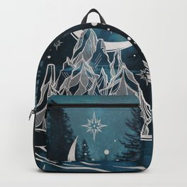 Adventure Is Out There Forest Lake Reflection - Nature Photography Backpack