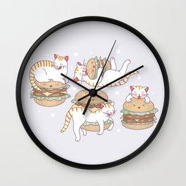 Cat burgers Wall Clock