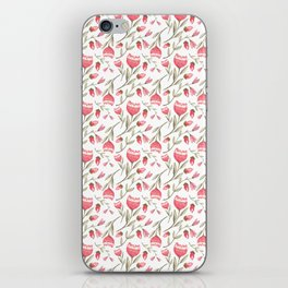 Red Floral iPhone Skin