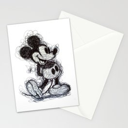 Mickey Mouse scribble Stationery Cards