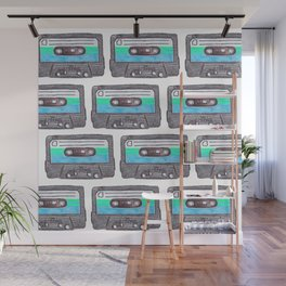 Cassette Patten *Light Blue Wall Mural