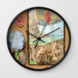 Seven Penitential Psalms - Master of Mary of Burgundy Wall Clock