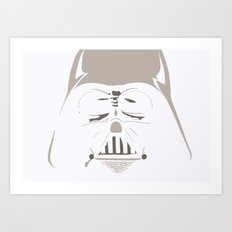 Ghost Darth Vader Art Print