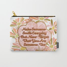 Make Someone Smile-with Daisies in Rose and Gold Carry-All Pouch