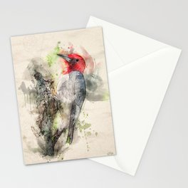 Red Headed Woodpecker Stationery Cards