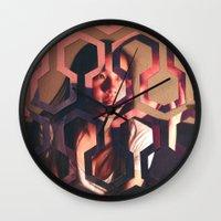 the shining Wall Clocks featuring Shining by Joshua Lew