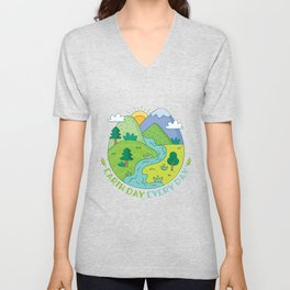 Earth Day Landscape Unisex V-Neck