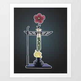 Bunsen Burner FlowerPot Art Print
