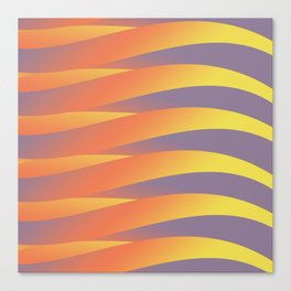 Pastel Abstract Tiger Canvas Print