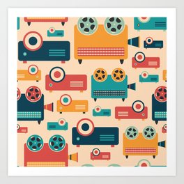 Retro Projectors Art Print