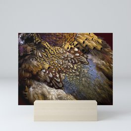 Pheasant plumage Mini Art Print