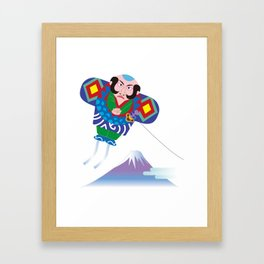 Japanese Kite and Mt.Fuji Framed Art Print