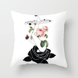 Space mystery natural Roses solar system Throw Pillow