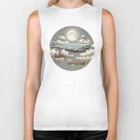 sky Biker Tanks featuring Ocean Meets Sky (original) by Terry Fan