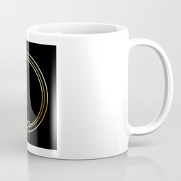 The symbol of Ouroboros snake in gold colors Coffee Mug