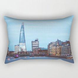 The Shard at Night | London Europe Cityscape Urban Photography Rectangular Pillow