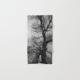 Nature Photography Weeping Willow | Lungs of the Earth | Black and White Hand & Bath Towel